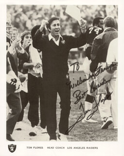 TOM FLORES - AUTOGRAPHED INSCRIBED PHOTOGRAPH