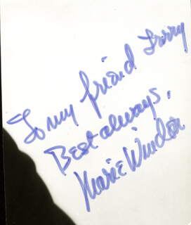 MARIE WINDSOR - AUTOGRAPH NOTE SIGNED