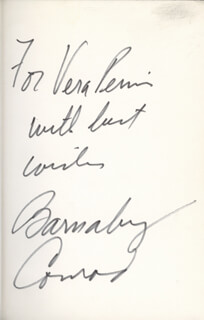 BARNABY CONRAD - INSCRIBED BOOK SIGNED CIRCA 1969
