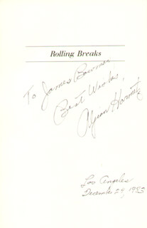 ALJEAN HARMETZ - INSCRIBED BOOK SIGNED 12/24/1983