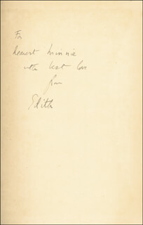 DAME EDITH SITWELL - INSCRIBED BOOK SIGNED CIRCA 1950