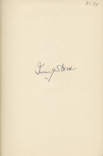 IRVING STONE - BOOK SIGNED