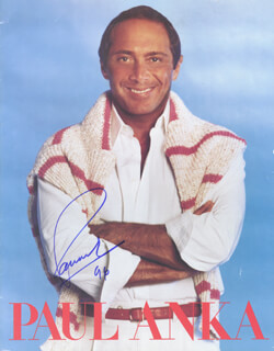 Autographs: PAUL ANKA - PROGRAM SIGNED 1996
