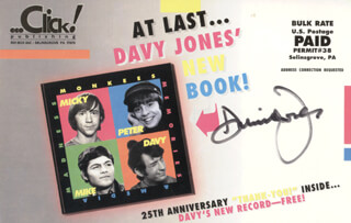 THE MONKEES (DAVY JONES) - ADVERTISEMENT SIGNED