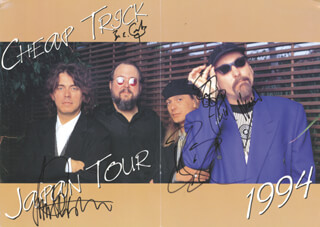CHEAP TRICK - PROGRAM SIGNED CIRCA 1994 CO-SIGNED BY: CHEAP TRICK (BUN E. CARLOS), CHEAP TRICK (RICK NIELSEN), CHEAP TRICK (TOM PETERSSON), CHEAP TRICK (ROBIN ZANDER)