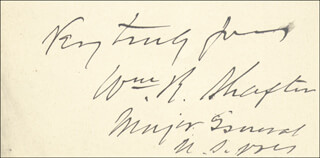 Autographs: MAJOR GENERAL WILLIAM R. SHAFTER - AUTOGRAPH SENTIMENT SIGNED
