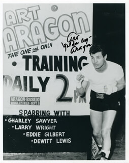 ART GOLDEN BOY ARAGON - AUTOGRAPHED SIGNED PHOTOGRAPH