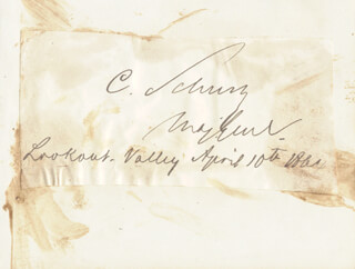 MAJOR GENERAL CARL SCHURZ - AUTOGRAPH 04/10/1864