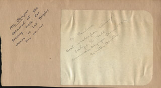 EVELYNE R. HALL - AUTOGRAPH NOTE SIGNED CIRCA 1937