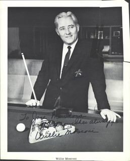 WILLIE MOSCONI - AUTOGRAPHED INSCRIBED PHOTOGRAPH
