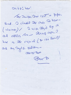 FAITH BALDWIN - AUTOGRAPH LETTER SIGNED