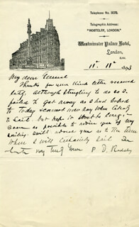 BRIGADIER GENERAL PHILIP D. RODDEY - AUTOGRAPH LETTER SIGNED 11/11/1893