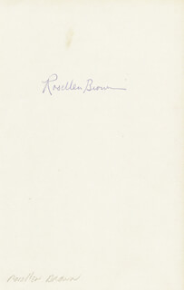 ROSELLEN BROWN - AUTOGRAPH