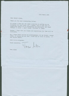 Autographs: JOAN AIKEN - TYPED LETTER SIGNED 03/18/1992