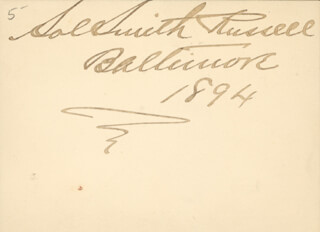 SOL SMITH RUSSELL - AUTOGRAPH 1894