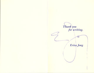 Autographs: ERICA JONG - POEM SIGNED