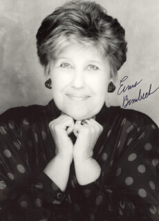 ERMA BOMBECK - AUTOGRAPHED SIGNED PHOTOGRAPH