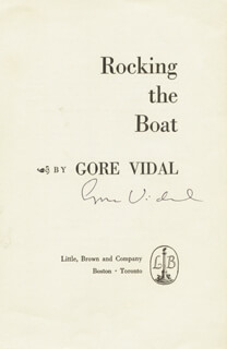 GORE VIDAL - BOOK PAGE SIGNED