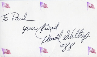 DARRELL L. WALTRIP - AUTOGRAPH NOTE SIGNED