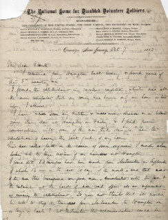 MAJOR GENERAL GEORGE B. MCCLELLAN - AUTOGRAPH LETTER SIGNED 10/07/1883
