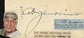 Autographs: AB JENKINS - POST CARD SIGNED CIRCA 1941