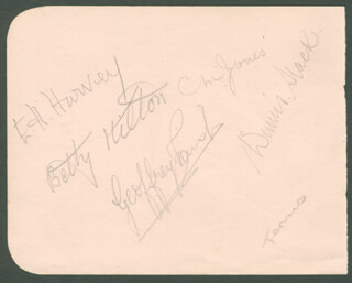 BETTY HILTON - AUTOGRAPH CO-SIGNED BY: DENNIS SLACK, CHRIS JONES, ERMYNTRUDE HILDA HARVEY, ERIC WILLIAM STURGESS, JACK HARPER