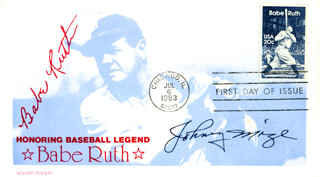 JOHNNY MIZE - FIRST DAY COVER SIGNED