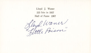 LLOYD LITTLE POISON WANER - PRINTED CARD SIGNED IN INK