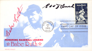 EDD J. ROUSH - FIRST DAY COVER SIGNED