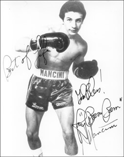 RAY BOOM BOOM MANCINI - AUTOGRAPHED SIGNED PHOTOGRAPH