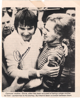 Autographs: JIMMY CONNORS - NEWSPAPER PHOTOGRAPH SIGNED
