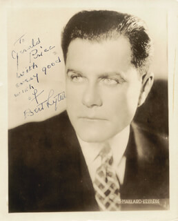 BERT LYTELL - AUTOGRAPHED INSCRIBED PHOTOGRAPH