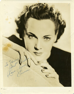 ROSE ANNE STEVENS - AUTOGRAPHED SIGNED PHOTOGRAPH