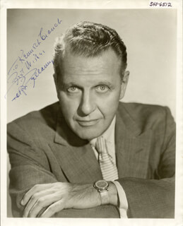 RALPH BELLAMY - AUTOGRAPHED INSCRIBED PHOTOGRAPH