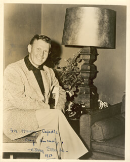 HARRY ELLERBE - AUTOGRAPHED SIGNED PHOTOGRAPH 1950