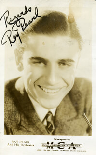 RAY PEARL - PRINTED PHOTOGRAPH SIGNED IN INK CIRCA 1938