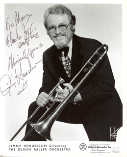 JIMMY HENDERSON - AUTOGRAPHED SIGNED PHOTOGRAPH 1975
