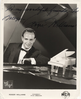 ROGER WILLIAMS - AUTOGRAPHED INSCRIBED PHOTOGRAPH