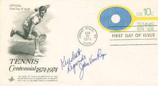 JOHN VAN RYN - FIRST DAY COVER WITH AUTOGRAPH SENTIMENT SIGNED