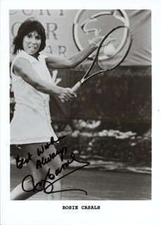 ROSIE (ROSEMARY) CASALS - AUTOGRAPHED SIGNED PHOTOGRAPH