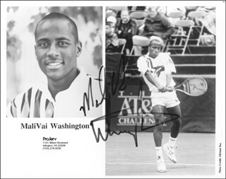 MALIVAI MAL WASHINGTON - AUTOGRAPHED SIGNED PHOTOGRAPH