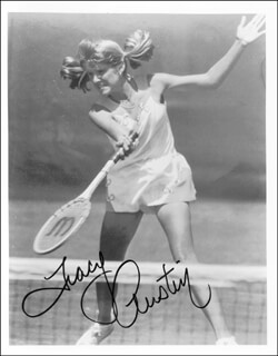 TRACY AUSTIN - AUTOGRAPHED SIGNED PHOTOGRAPH