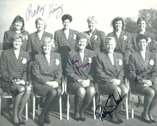 BETH DANIEL - AUTOGRAPHED SIGNED PHOTOGRAPH CO-SIGNED BY: BETSY KING, PATTY SHEEHAN, KATHY WHITWORTH, DANIELLE AMMACCAPANE