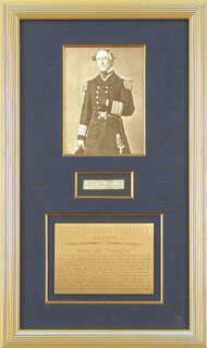 Autographs: ADMIRAL DAVID G. FARRAGUT - CLIPPED SIGNATURE