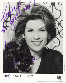 REBEKAH DEL RIO - PRINTED PHOTOGRAPH SIGNED IN INK