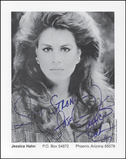 JESSICA HAHN - AUTOGRAPHED SIGNED PHOTOGRAPH