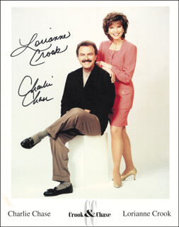 CROOK & CHASE - AUTOGRAPHED SIGNED PHOTOGRAPH CO-SIGNED BY: CROOK & CHASE (LORIANNE CROOK), CROOK & CHASE (CHARLIE CHASE)