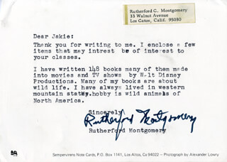 RUTHERFORD MONTGOMERY - TYPED LETTER SIGNED