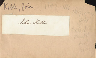 Autographs: JOHN KEBLE - PICTURE POST CARD SIGNED