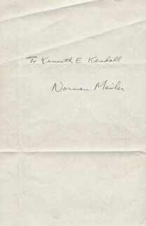 NORMAN MAILER - INSCRIBED SIGNATURE